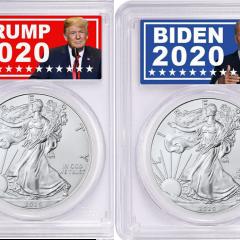 Trump Biden Silver Coin