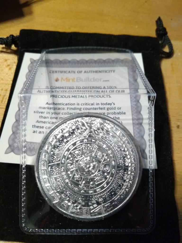 Astec Silver Round Calander