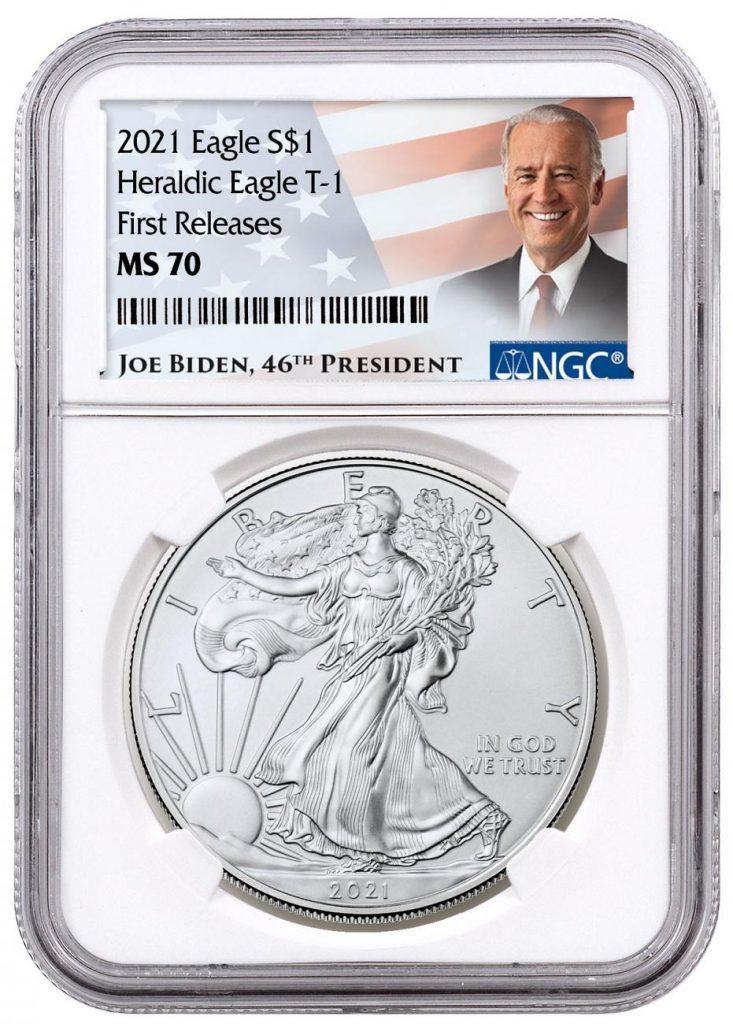 Biden 2021 Silver Eagle