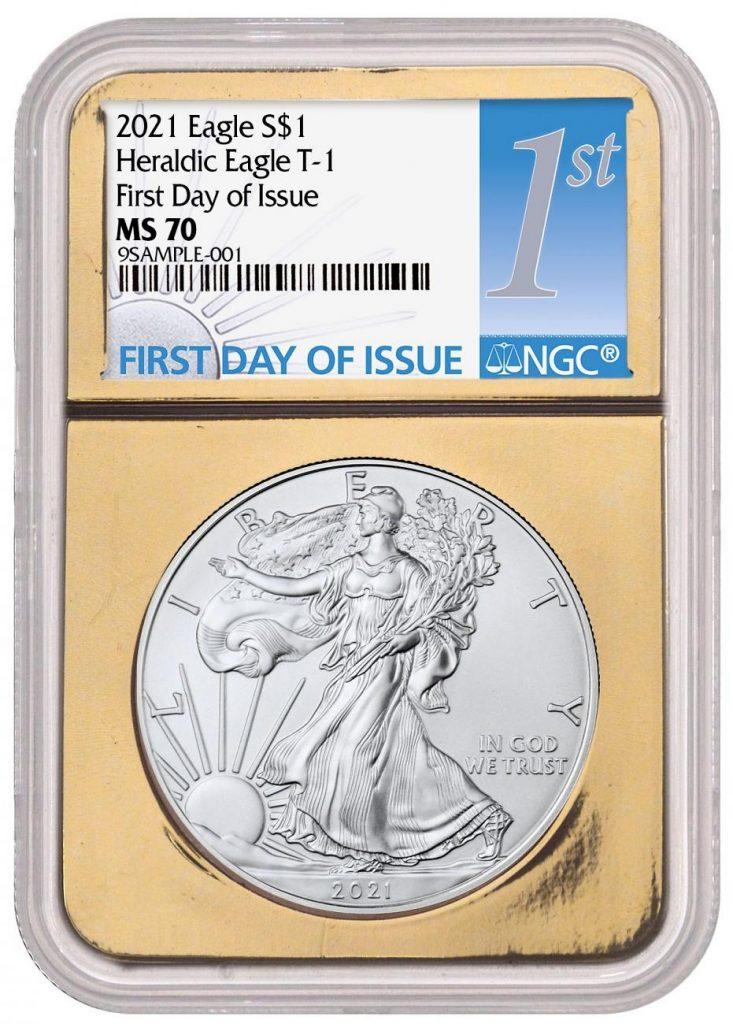 Gold Foil Silver Eagle 2021